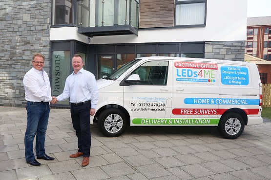 L-R Chris Hope Senior Partner Dawsons and David Maternaghan MD, LEDs4ME