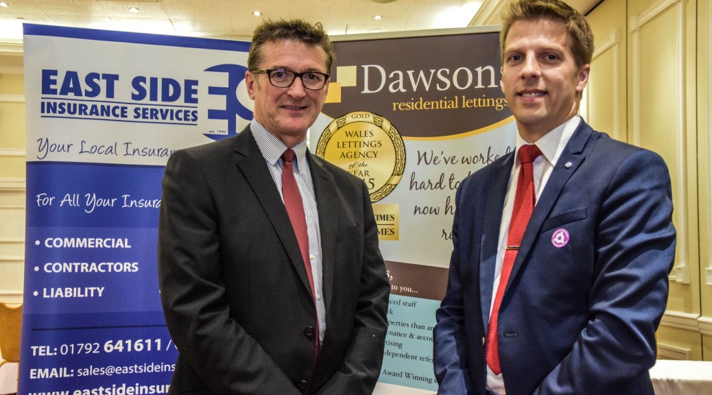 Ian Bateman, Commercial Insurance Director at Eastside Insurance Services, with Ricky Purdy, Director of Dawsons residential lettings