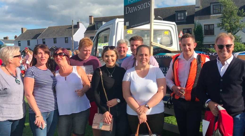 Dawsons' staff at the Burry Port Raft Race