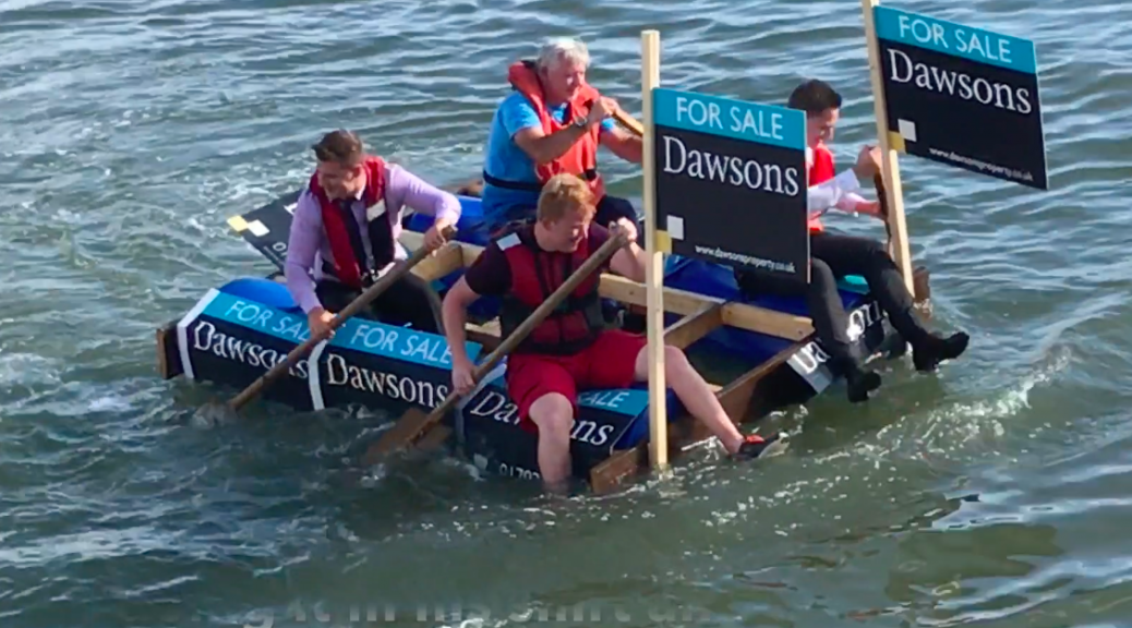 Dawsons team in the Burry Port Raft RaceP