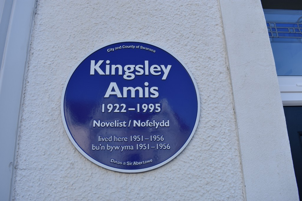 The blue plaque on The Grove, Uplands
