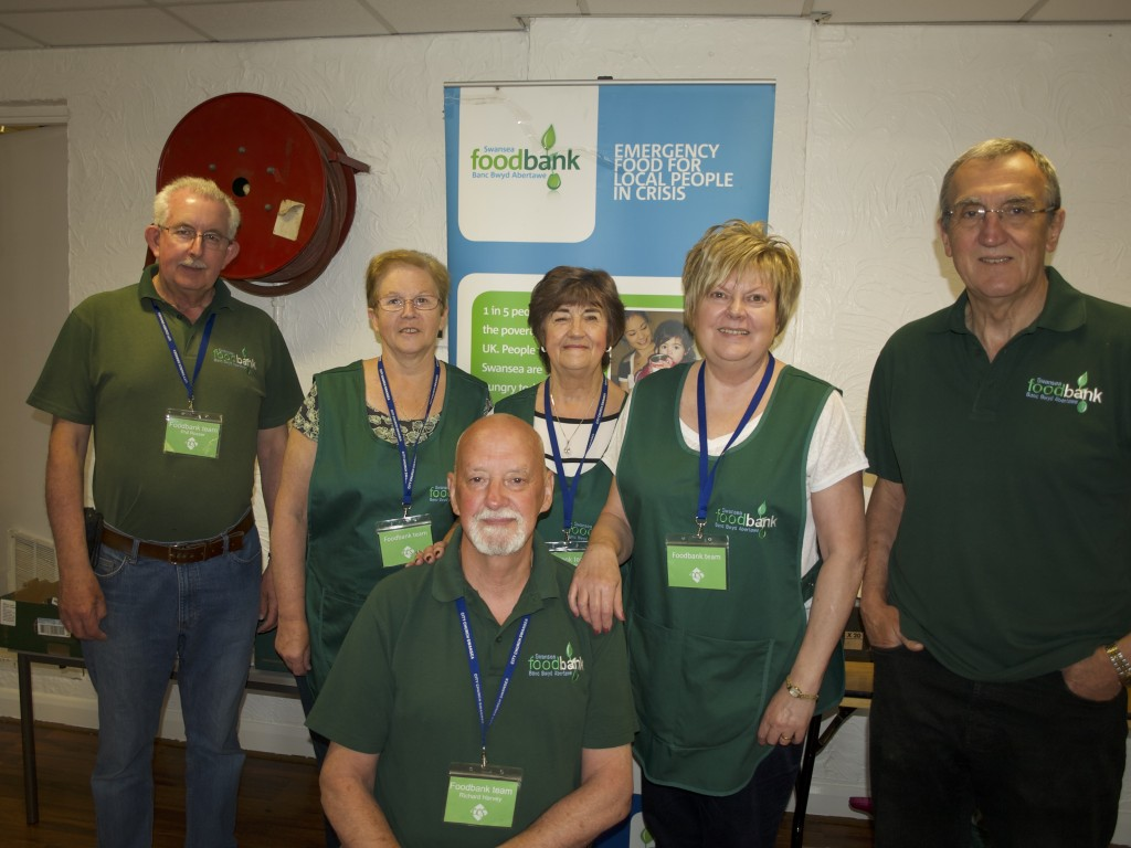 Swansea Foodbank volunteers