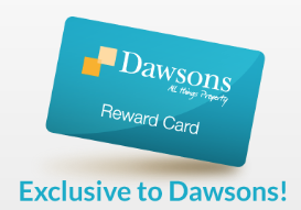 Dawsons Property have an exclusive reward card for their clients in Swansea