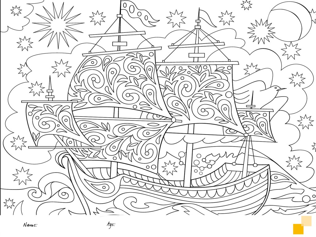 Colouring in boat from Dawsons