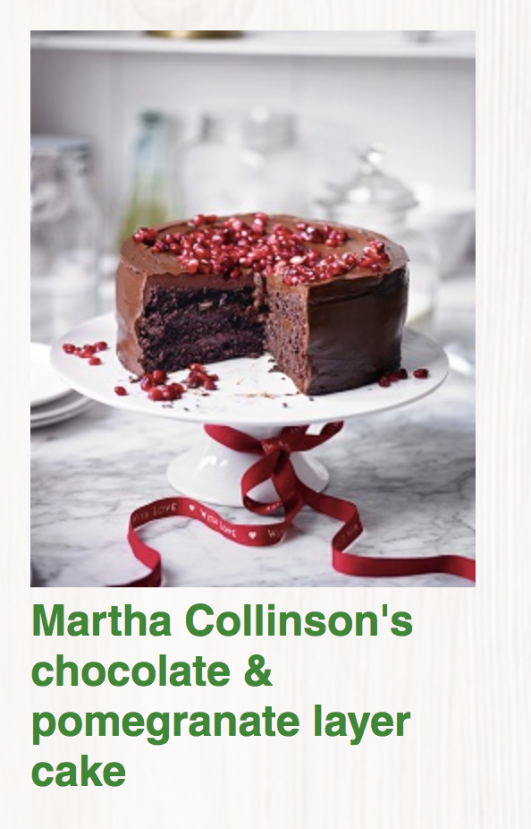 Martha Collinsons Chocolate and Pomegranate layer cake