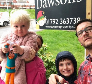 Selfie with Elfie Competition at Dawsons Property in Swansea