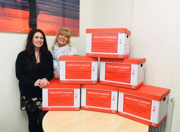 Period Poverty collection for local schools from Dawsons Property