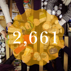 2661 items for Dawsons Food Drive 2019