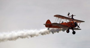 wing walkers at wales airshow 2019