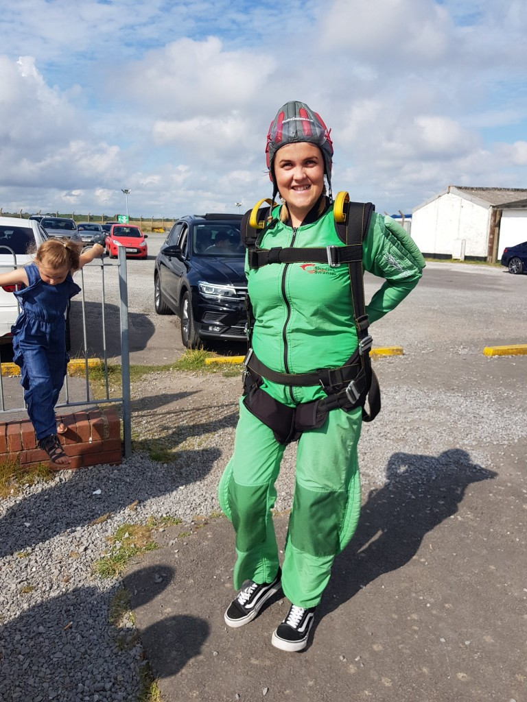 Gemma Dawsons Property Skydiving for Ty Olwen