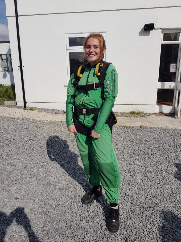 Bronte Dawsons Property Skydiving for Ty Olwen