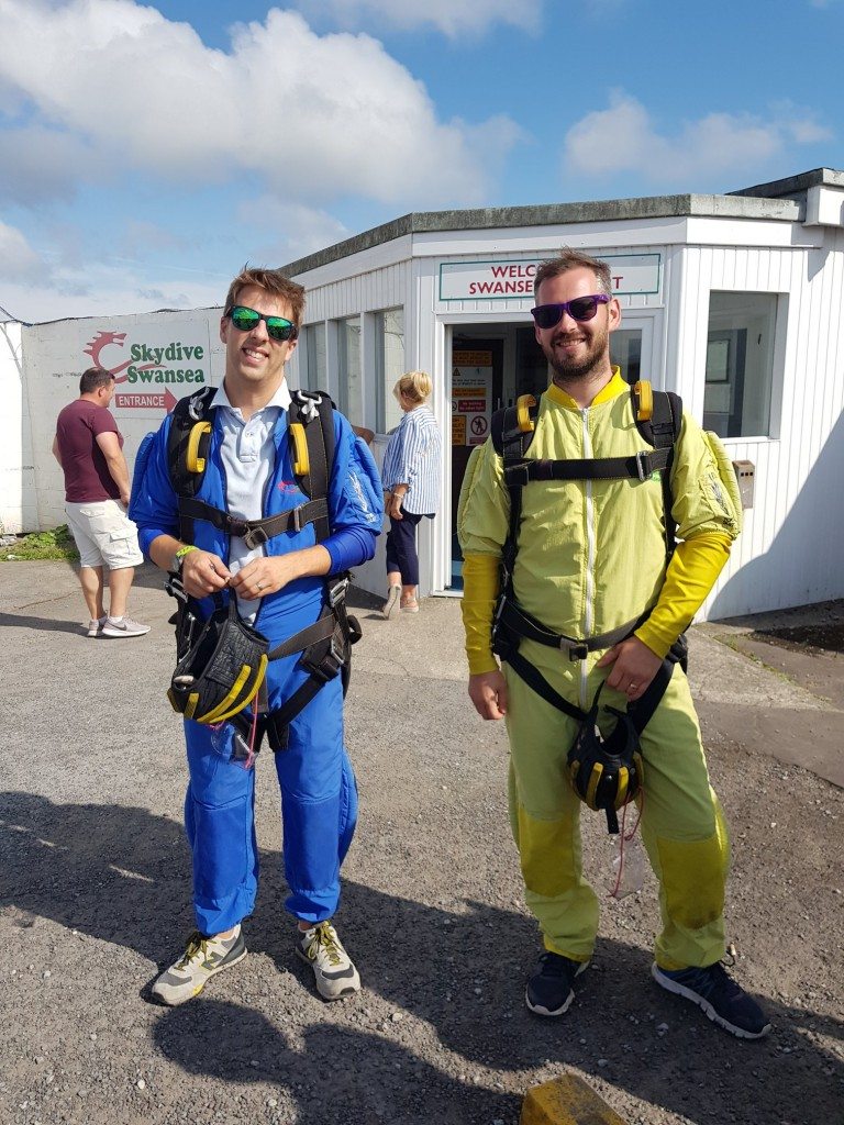 Ricky and James Dawsons Property Skydiving for Ty Olwen