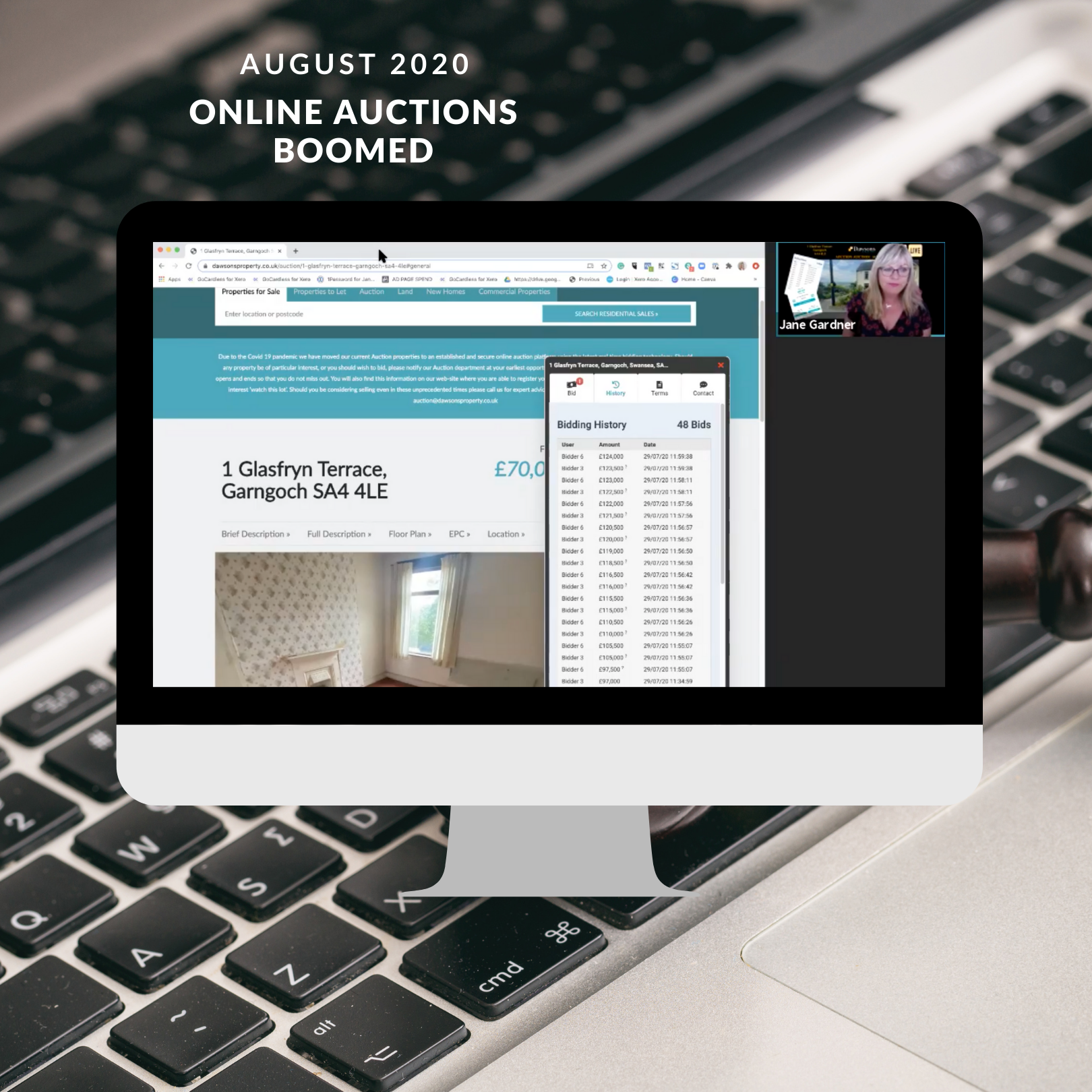 Dawsons online auctions take over the internet in 2020